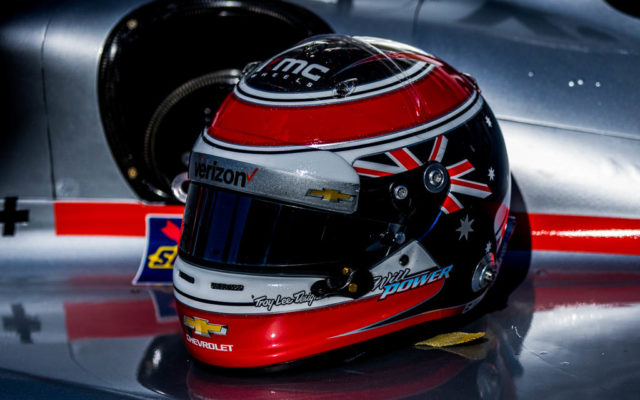 Will Power's helmet.  [Andy Clary Photo]