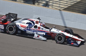Graham Rahal speeds by in his United Rentals/SoldierStrong/Turns For Troops IndyCar. [John Wiedemann Photo]