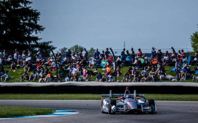 Will Power leads the way at the IndyCar Grand Prix.  [Andy Clary Photo]