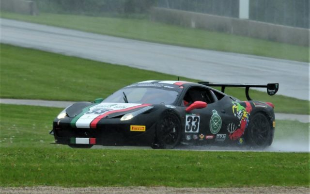#33 Steven Hill (Ferrari 458) Winner of Group 6,12,12b Feature Race 1 on Saturday at Road America.  [Dave Jensen Photo]