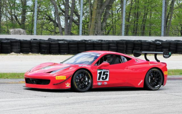 #15 Colin Cohen (FERRARI 485 CHALLENGE) in Group 6 12 Carl Jensen Memorial race on Sunday at Road America.  [Dave Jensen Photo]