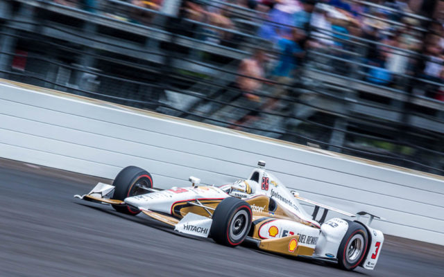 Helio Castroneves in the 101st Indianapolis 500.  [Andy Clary Photo]