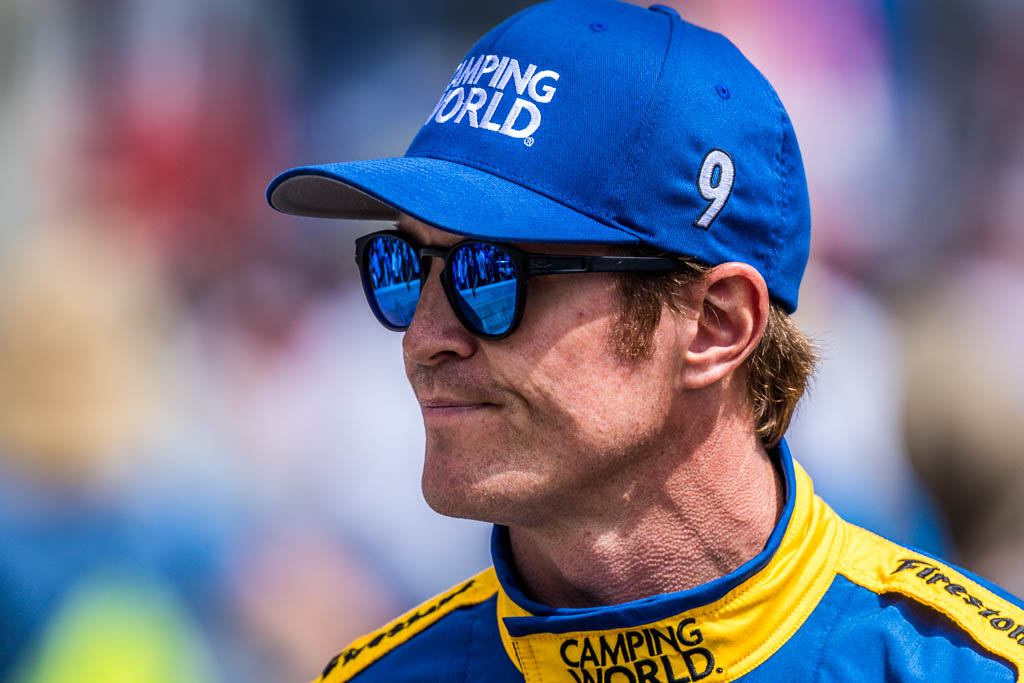 Scott Dixon on the grid prior to the Indy 500. [Andy Clary Photo]