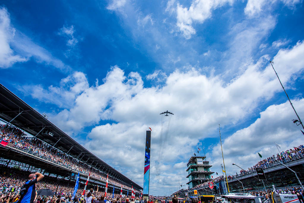 Flyover for the 101st Indianapolis 500. [Andy Clary Photo]