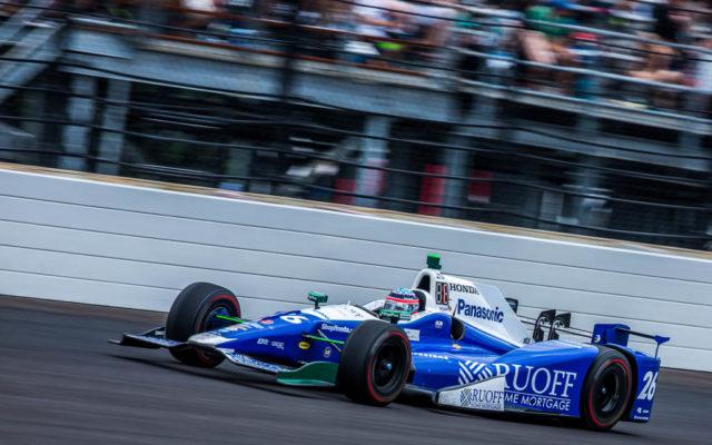 Takuma Sato, winner of the 101st Indianapolis 500.  [Andy Clary Photo]