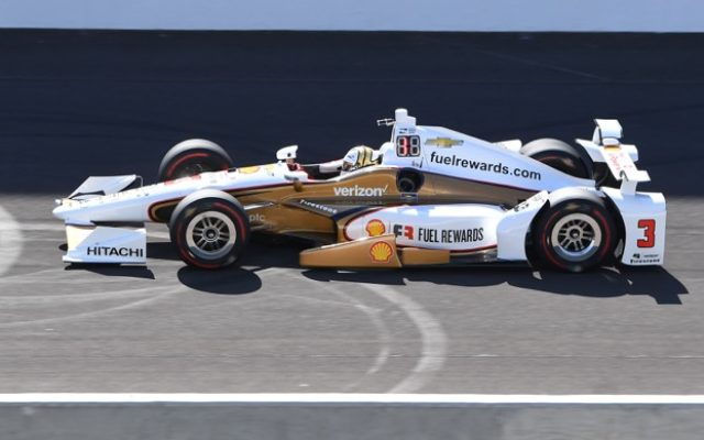 Helio Castroneves was second quick during Tuesday's practice at the Indianapolis Motor Speedway.  [Russ Lake Photo]