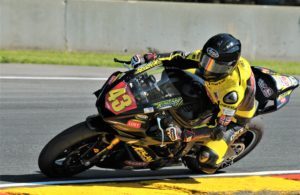 #43 Caroline Olsen (YAMAHA YZF-R6) in turn 6 at Road America on Friday. [Dave Jensen Photo]