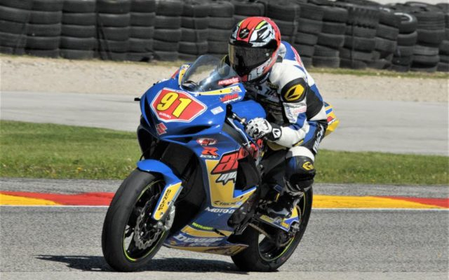 #91 J.C. Comacho (SUZUKI GSX-R600) in turn 6 at Road America on Friday.  [Dave Jensen Photo]