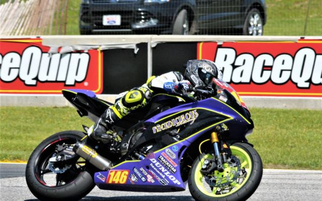 #86 Gauge Rees (YAMAHA YZF-R6) in turn 6 at Road America on Friday.  [Dave Jensen Photo]