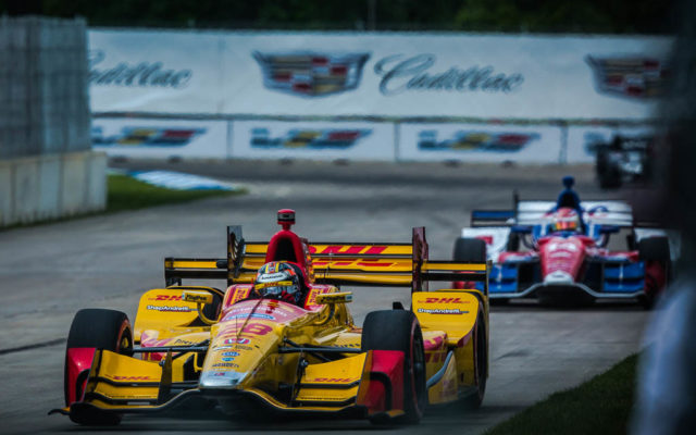 Ryan Hunter-Reay in Detroit.  [Andy Clary Photo]