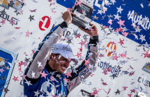 Graham Rahal in victory lane at the Chevrolet Detroit Grand Prix presented by Lear. [Andy Clary Photo]