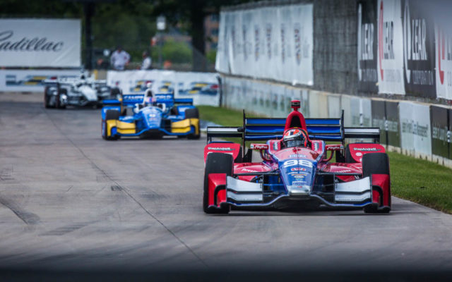Alexander Rossi in the Detroit Grand Prix.  [Andy Clary Photo]