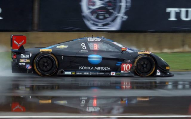 A very wet Petit Le Mans in 2015.  [Photo by Jack Webster]