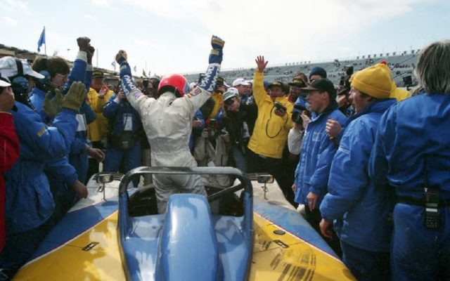 Wayne Taylor after winning Daytona in 1996.  [Photo by Jack Webster]