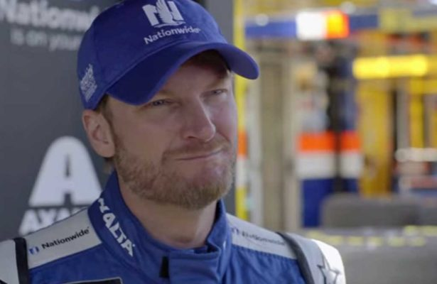 Dale Earnhardt Jr talks with Mobil 1 The Grid