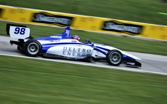 Colton Herta charges toward turn seven at Road America.  [John Wiedemann Photo]
