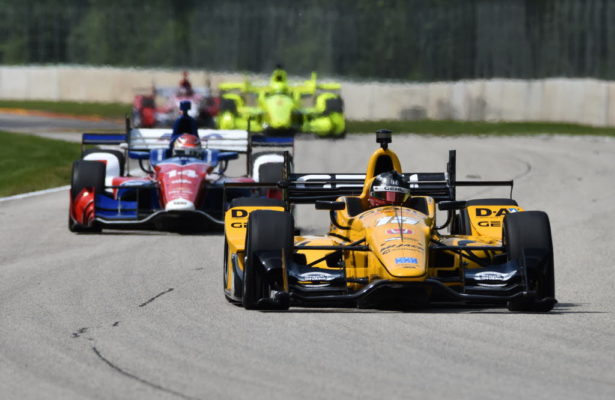 Graham Rahal during practice at Road America. [John Wiedemann Photo]