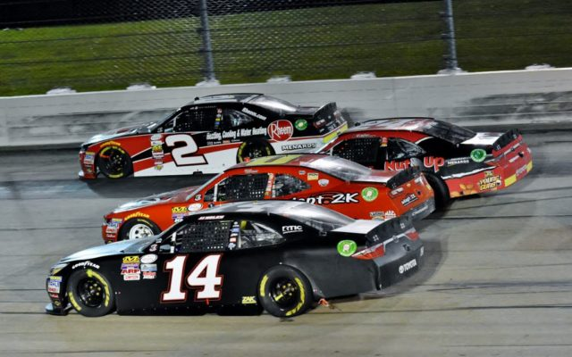 4-wide at the Iowa Speedway.  [Kim Kemperman Photo]