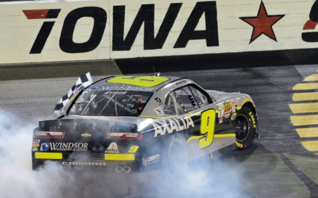 William Byron wins big in Iowa.  [Kim Kemperman Photo]