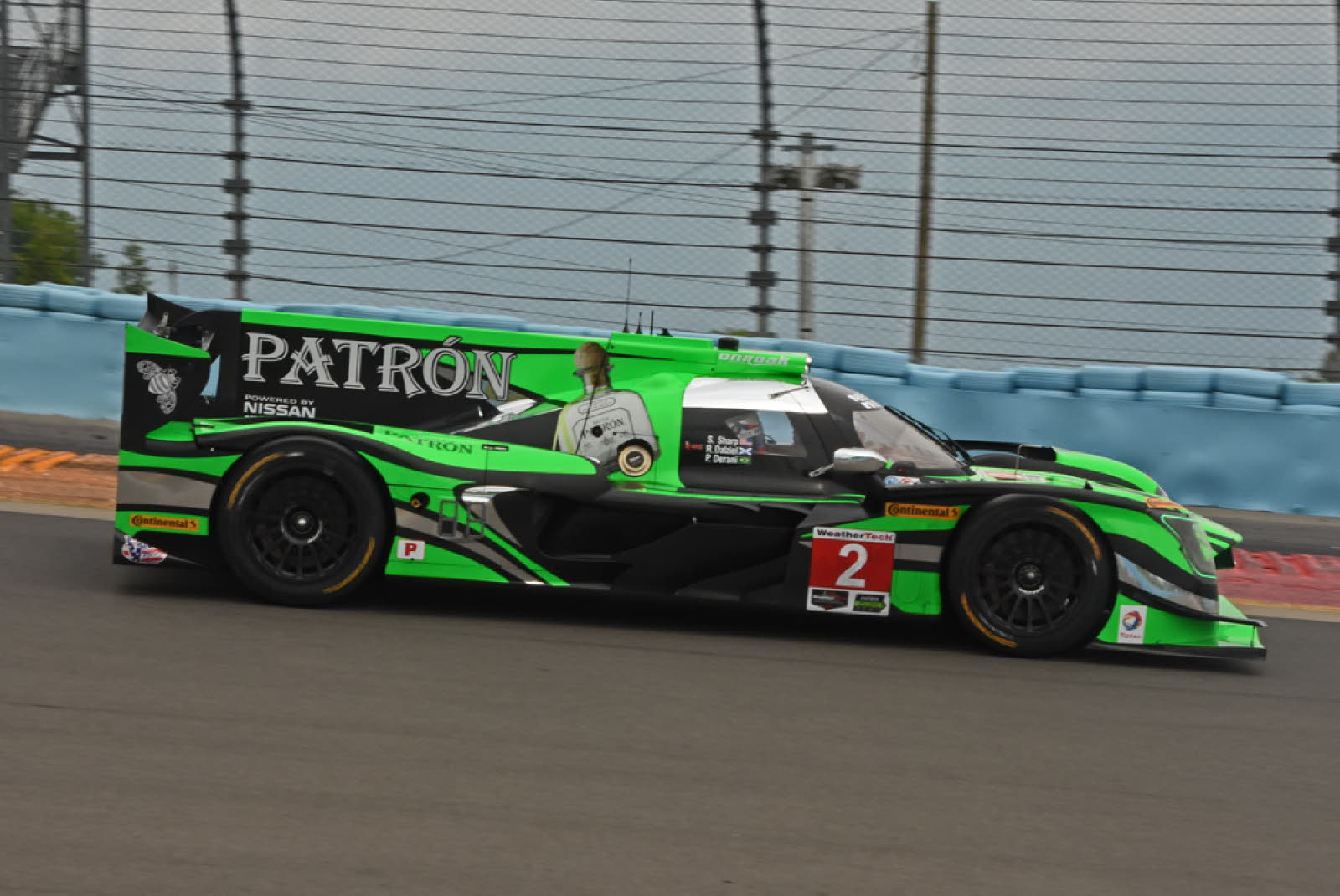 Pole Winning Tequila Patron Nissan speeds around track. [Joe Jennings Photo]