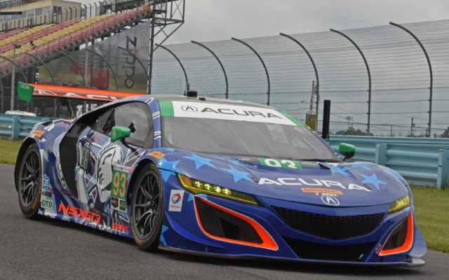 Patriotism reigned supreme with the liveries at Watkins Glen:  Acura NSX.  [Joe Jennings Photo]