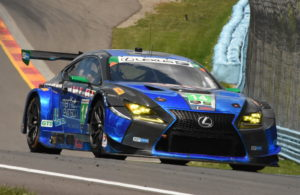 Scott Pruett powers into turn 9 at The Glen in his 3GT Racing Lexus RC F GT3. [Joe Jennings Photo]