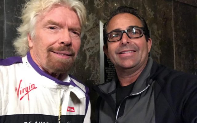 My selfie with Richard Branson. [Eddie LePine Photo]