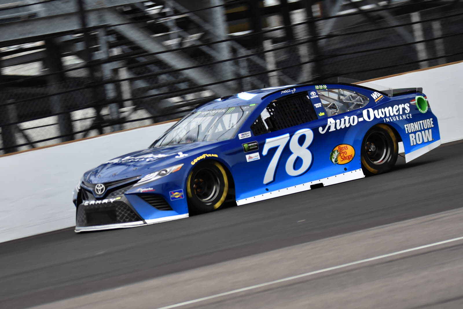 Martin Truex Jr. at the Indianapolis Motor Speedway. [John Wiedemann Photo]