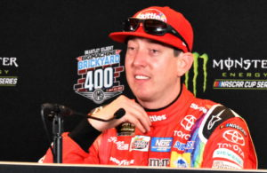 Kyle Busch, polesitter for the Brantley Gilbert Big Machine Brickyard 400. [John Wiedemann Photo]