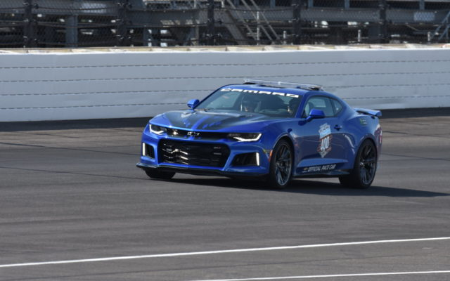 Jeff Gordon driving the pace car at the Brickyard 400.  [John Wiedemann Photo]