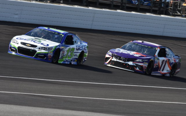 Ty Dillon and Denny Hamlin.  [John Wiedemann Photo]