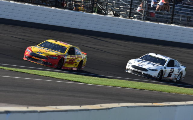 Teammates Joey Logano and Brad Keselowski.  [John Wiedemann Photo]