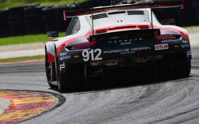 Porsche 911 RSR driven by Gianmaria Bruni and Laurens Vanthoor.  [John Wiedemann Photo]