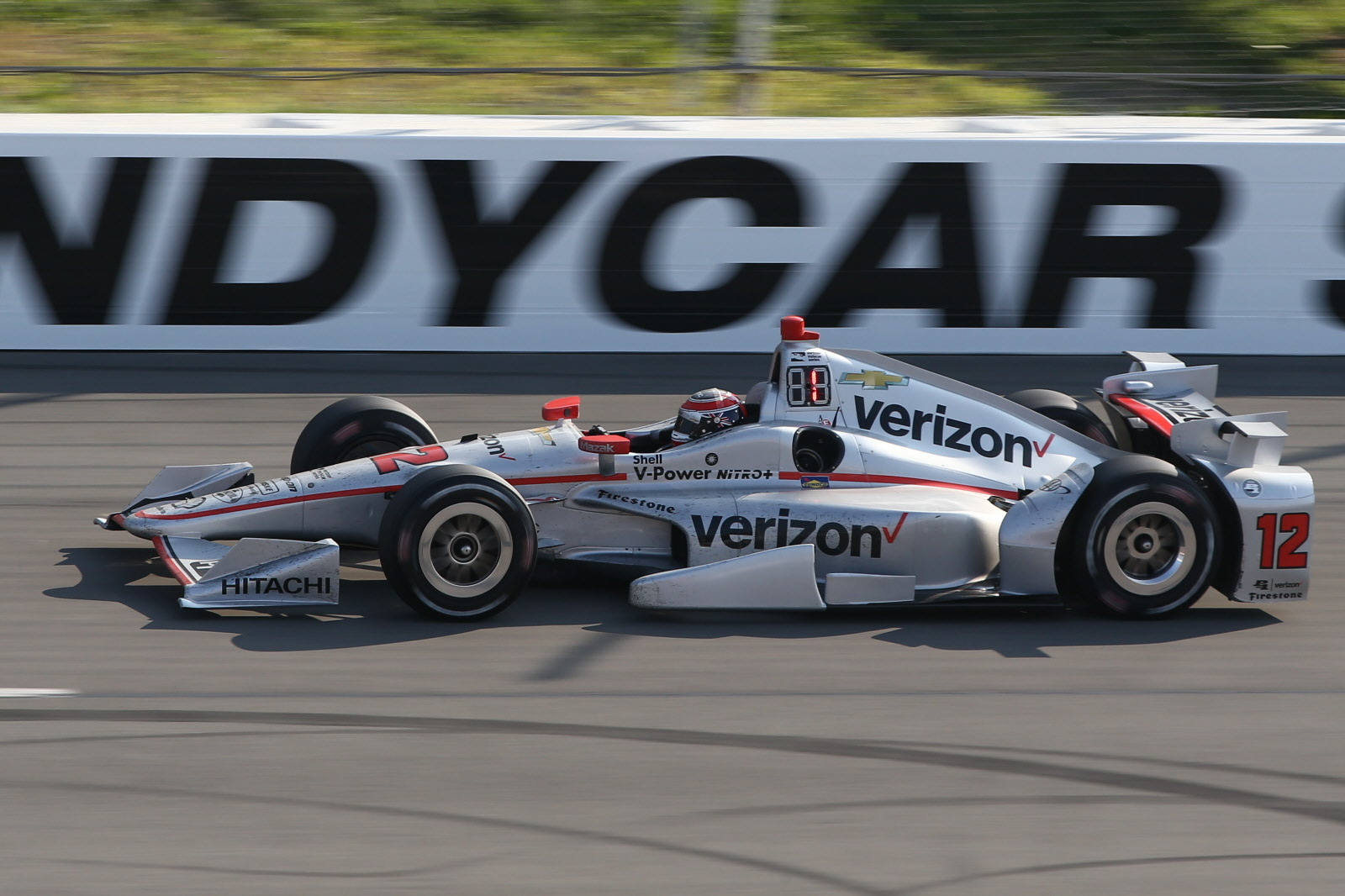 Will Power leading and on his way to winning the ABC Supply 500 at Pocono Raceway. [Chris Jones Photo]