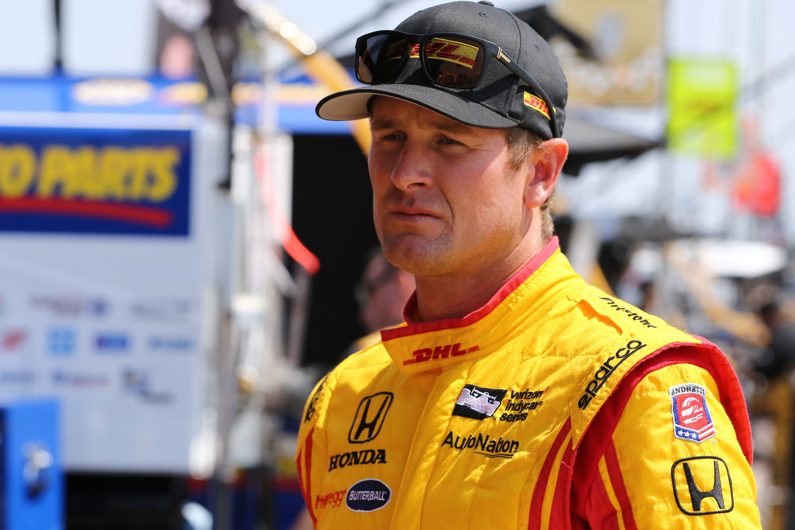 Ryan Hunter-Reay on pit lane prior to the ABC Supply 500 at Pocono Raceway. [Chris Jones Photo]