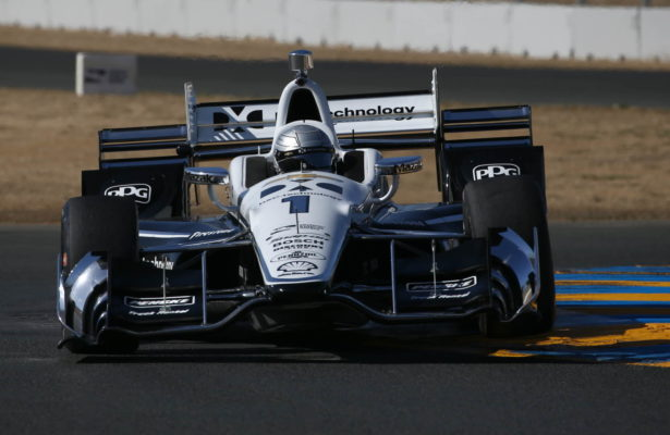 Simon Pagenaud exits the Turns 9-9A Esses section during the open test at Sonoma Raceway.  [Photo by: Chris Jones]