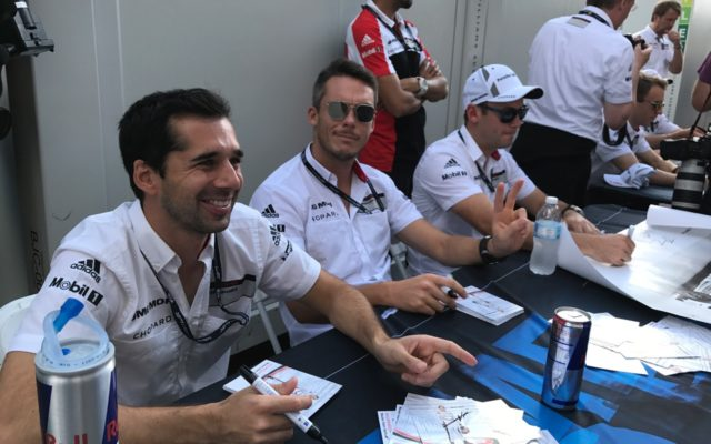 All smiles at the autograph session.  [Photo by Eddie LePine]