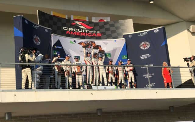 Porsche 1-2 on the Podium.  [Photo by Eddie LePine]
