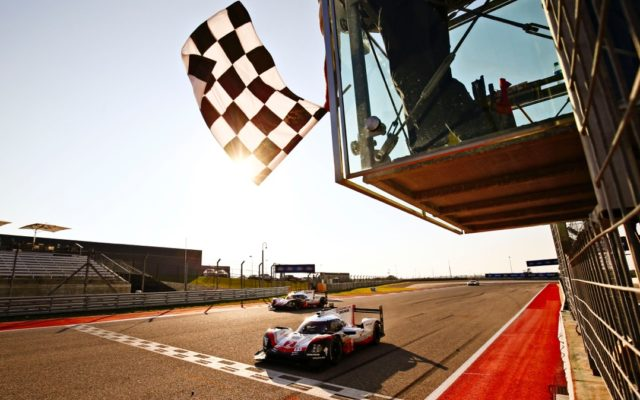 Porsche takes the checkered finish.  [Photo by Porsche Motorsport]
