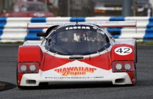 Porsche Fabcar at speed. [Photo by Jack Webster]