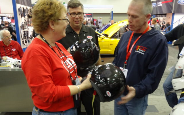 Bell Helmets booth at the 2018 PRI show in Indianapolis.  [Paul Gohde Photo]