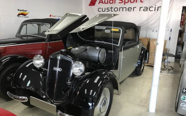 Just some of the historic cars at Brad's shop.  [Jack Webster Photo]