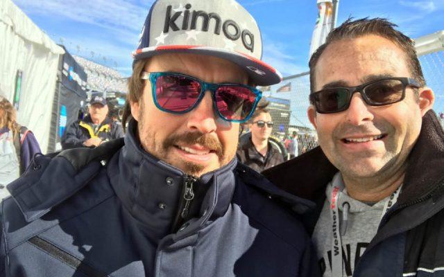 Fernando Alonso with Eddie LePine.  [photo by Eddie LePine]