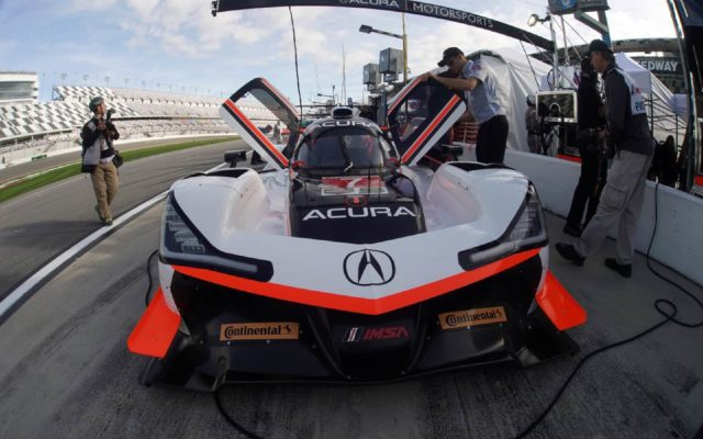 Penske Acura in the pits.  [Jack Webster Photo]