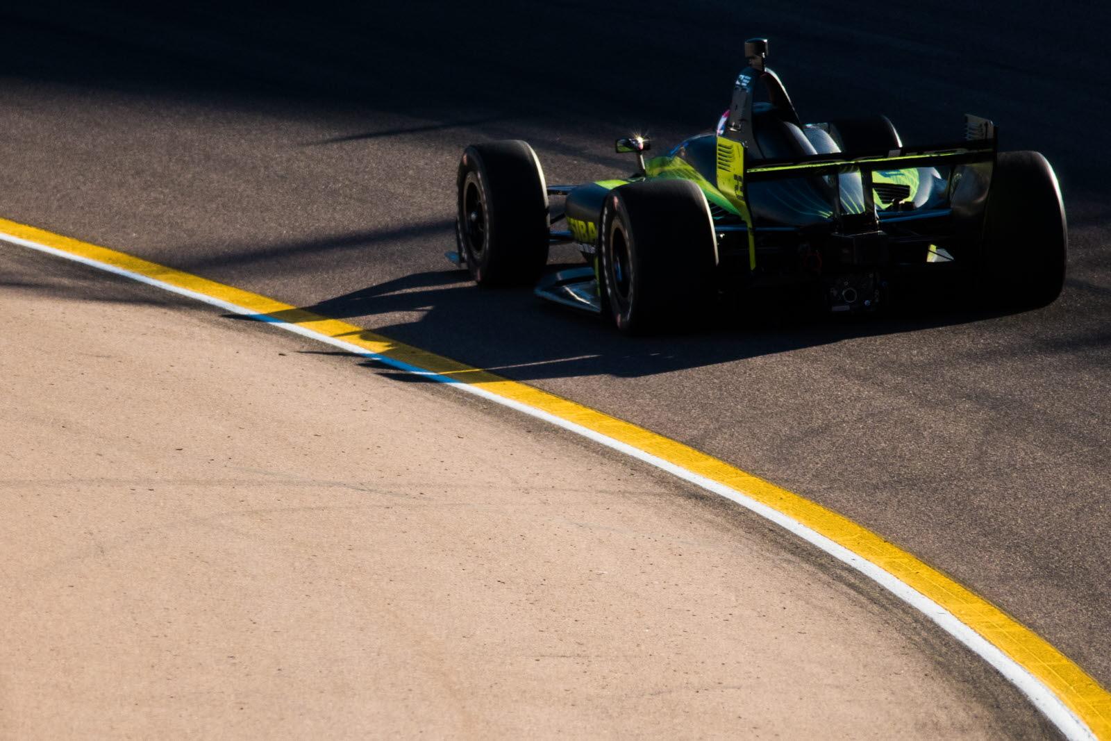 Charlie Kimball on track at ISM Raceway. [credit Jamie Sheldrick / Spacesuit Media]