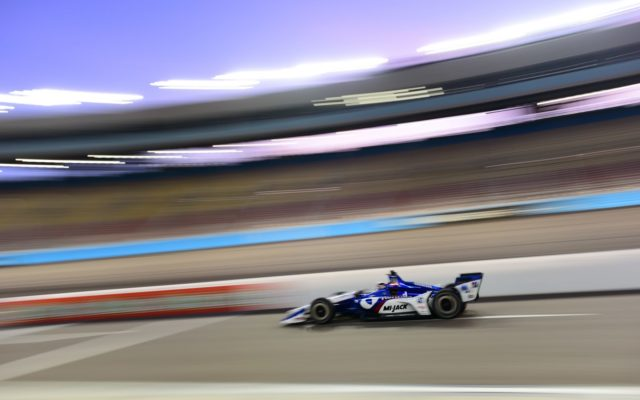 Graham Rahal topped the charts in the evening test session at ISM Raceway.  [credit Jamie Sheldrick / Spacesuit Media]