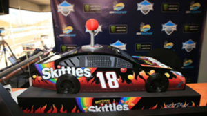 Kyle Busch's new Skittles dispenser at ISM Raceway. [photo courtesy Lainie McKeague]