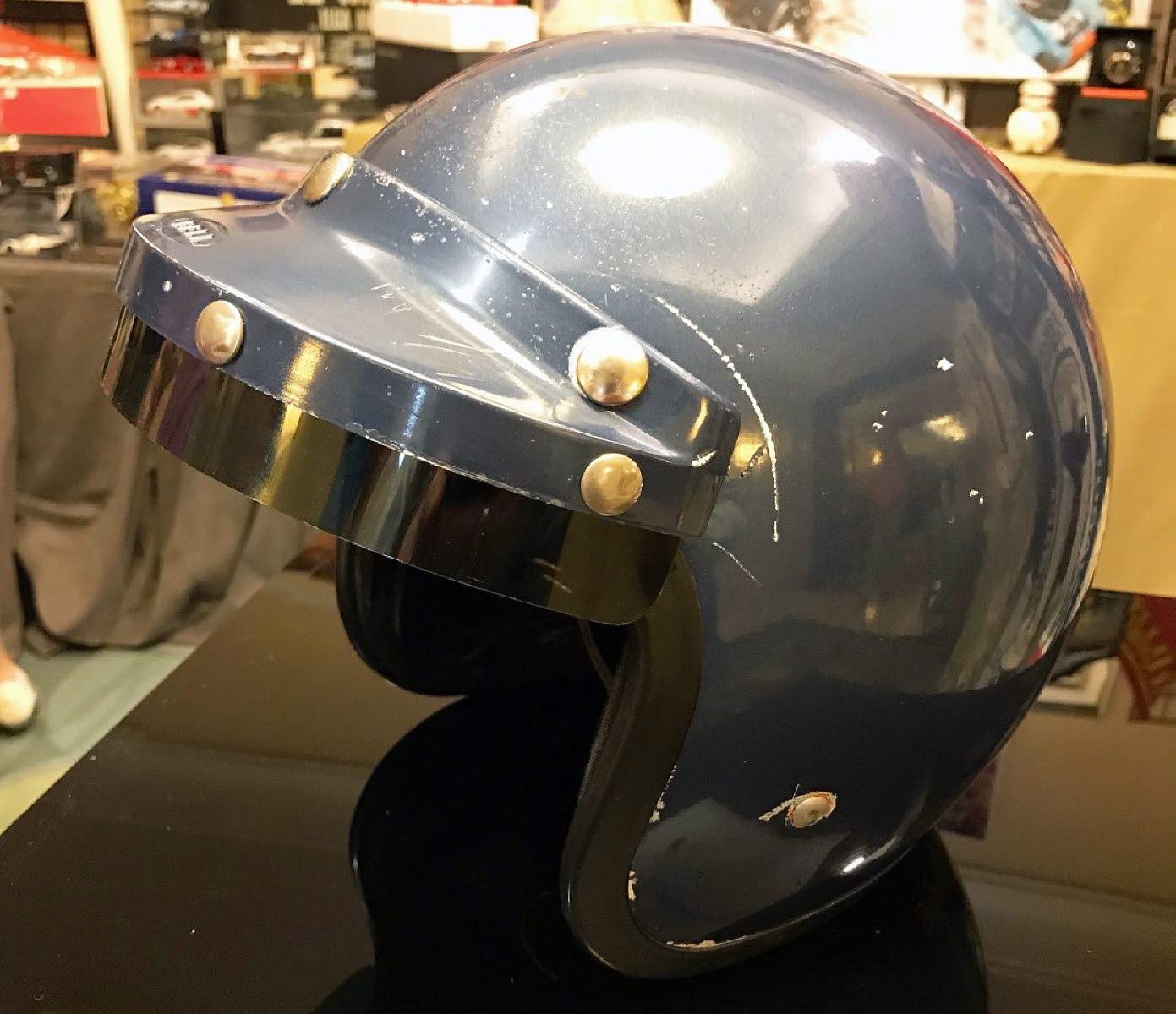 The helmet. [Photo by Jack Webster]