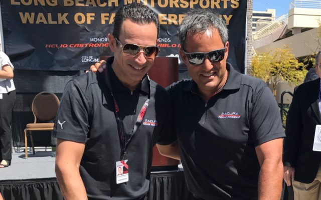 Helio Castroneves and Juan Pablo Montoya.  [Photo by Eddie LePine]