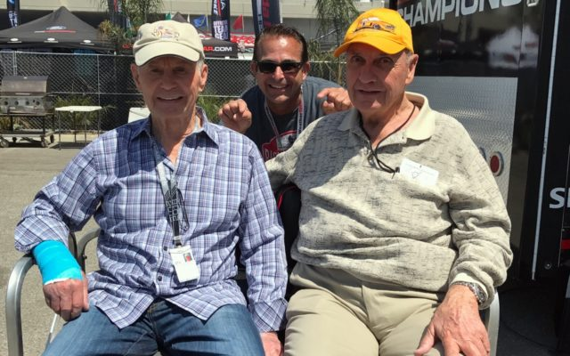 Photo bombing Parnelli Jones and George Follmer.